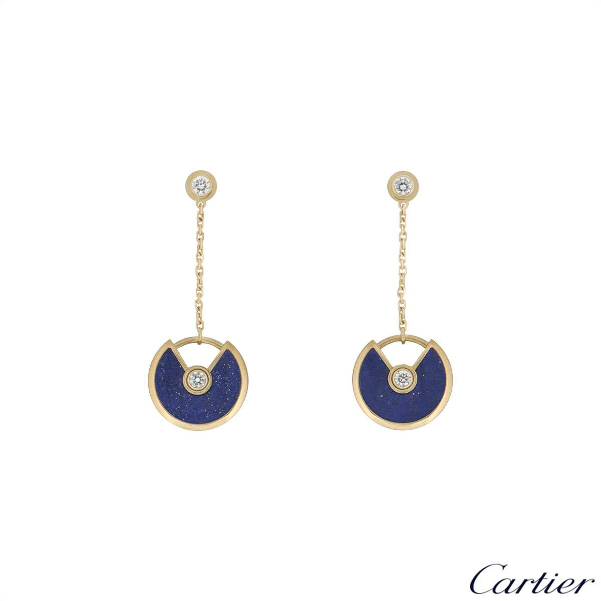 Cartier Yellow Gold Amulette de Cartier Earrings